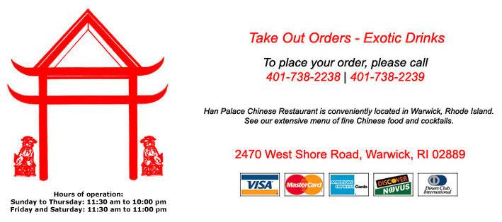 Han Palace Chinese Restaurant In Warwick Ri